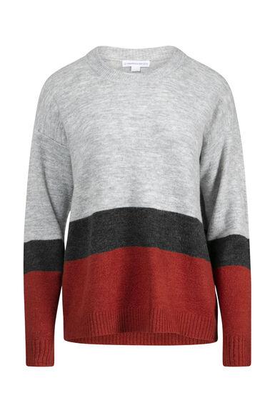 Women's Colour Block Sweater, MULTI, hi-res