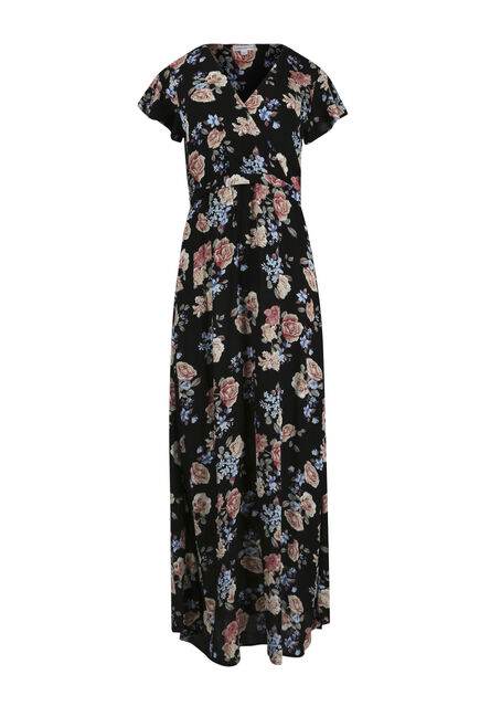 Women's Floral Wrap Maxi Dress