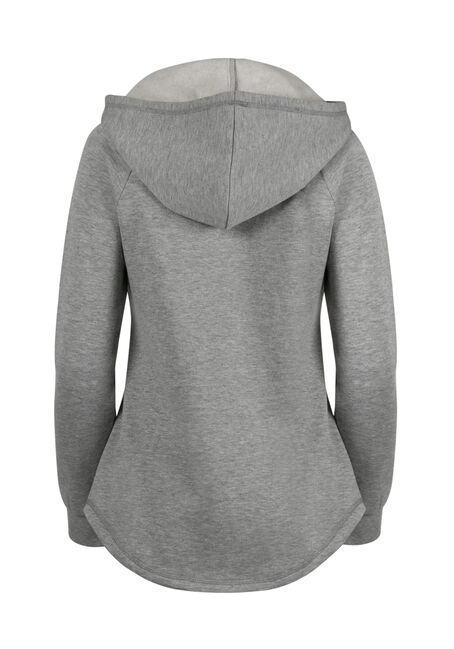 Ladies' Super Soft Baseball Hoodie, BLACK/GREY, hi-res