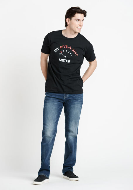 Men's Give-A-Shit Meter Tee, BLACK, hi-res