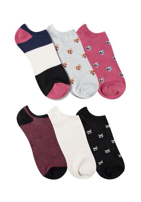 Women's 6 Pair Puppies Socks