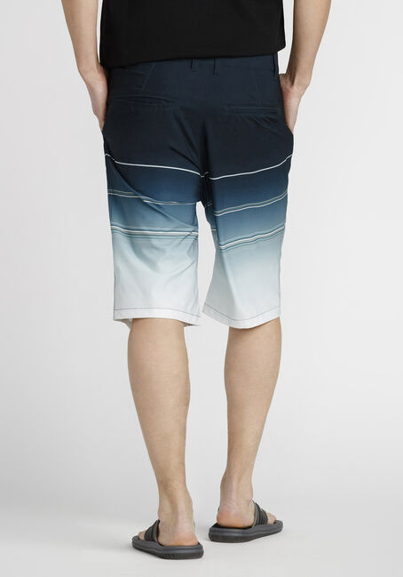 Men's Striped Hybrid Short, TURQUOISE, hi-res