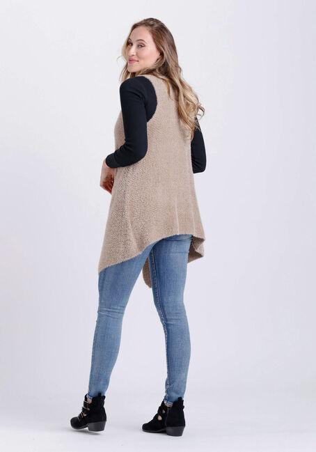 Women's Drape Vest, CAMEL, hi-res