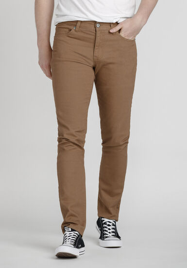 Men's Coloured Skinny Jeans, TOBACCO, hi-res