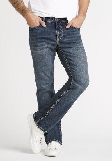 Men's Dark Wash Classic Boot Jeans, DARK WASH, hi-res