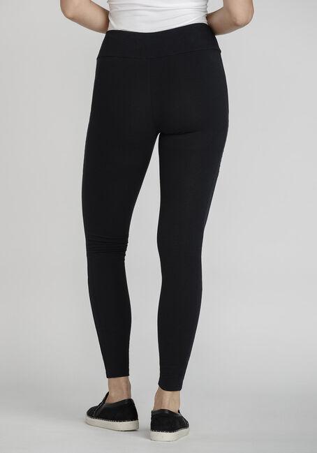Women's Moto Detail Legging, BLACK, hi-res