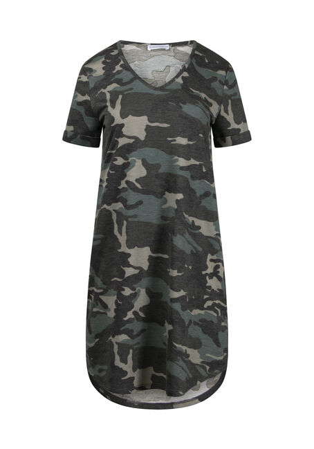 Women's Camo T-Shirt Dress