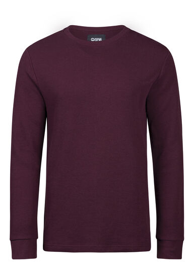 Men's Everyday Waffle Tee, PLUM, hi-res