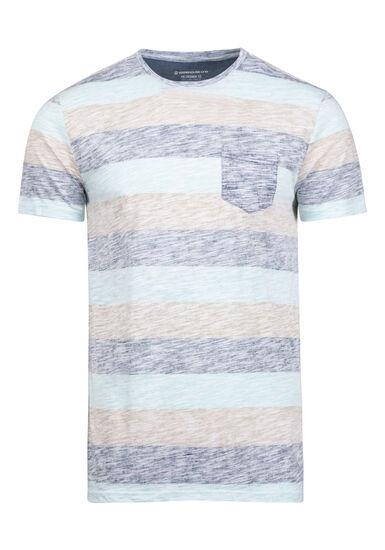 Men's Everyday Striped Pocket Tee, SKY, hi-res