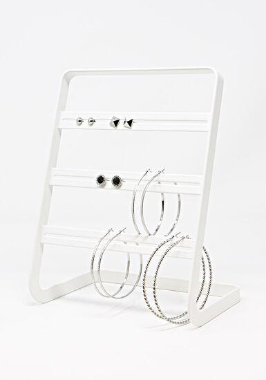 Women's 6 Pair Earring Set, SILVER, hi-res