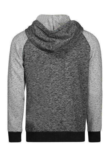 Men's Textured Zip Front Hoodie, CHARCOAL, hi-res
