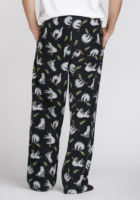 Men's Sloth Fleece Sleep Pant, CHARCOAL, hi-res