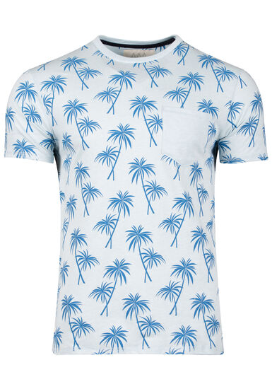 Men's Tropical Tee, TEAL, hi-res