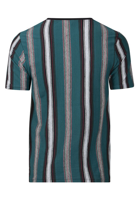 Men's Striped Tee, HUNTER, hi-res