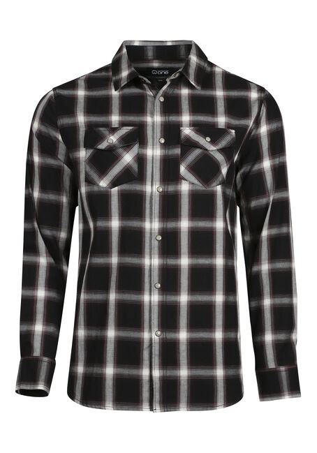 Men's Relaxed Shadow Plaid Shirt