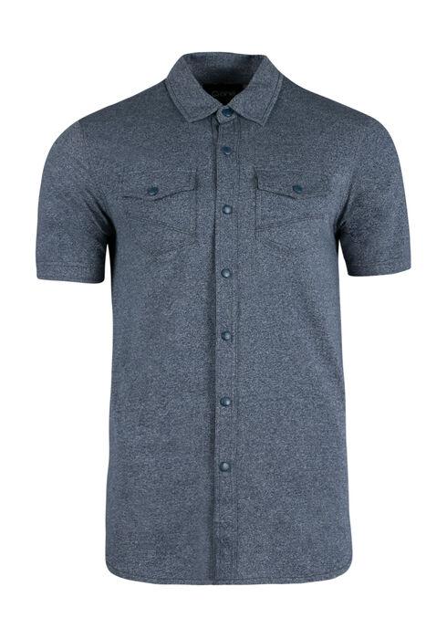 Men's Knit Shirt, BLUE, hi-res