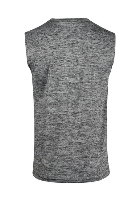 Men's Space Dye Tank, CHARCOAL, hi-res