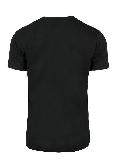Men's Deadpool Textured Print Tee, BLACK, hi-res
