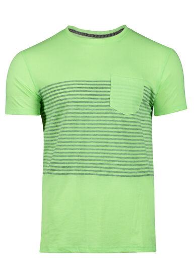 Men's Striped Tee, FRESH GREEN, hi-res