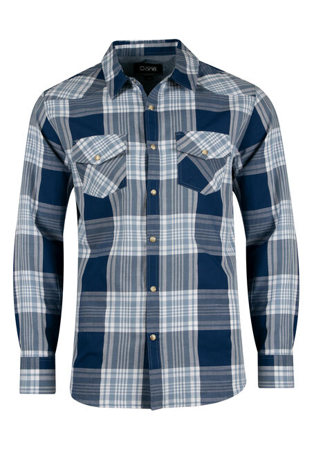 Men's Relaxed Plaid Shirt
