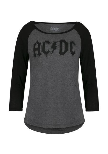 Ladies' AC/DC Baseball Tee