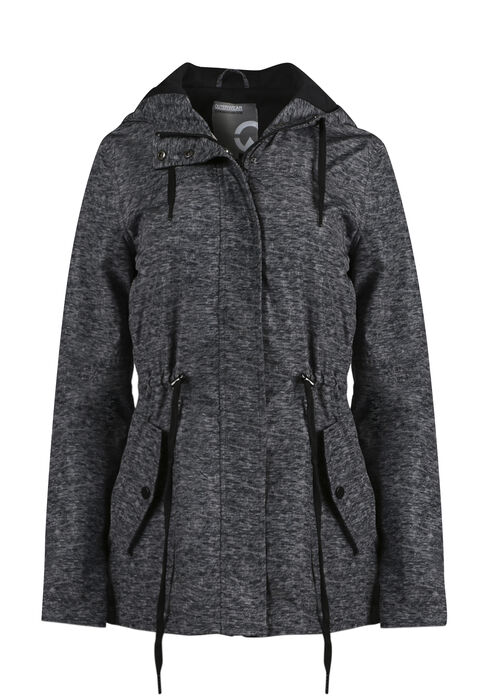 Women's Hooded Anorak Jacket, CHARCOAL, hi-res