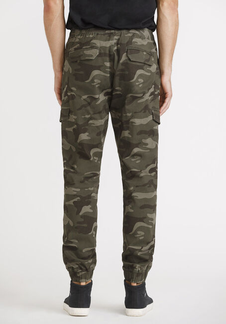 Men's Twill Cargo Jogger, LIGHT OLIVE, hi-res