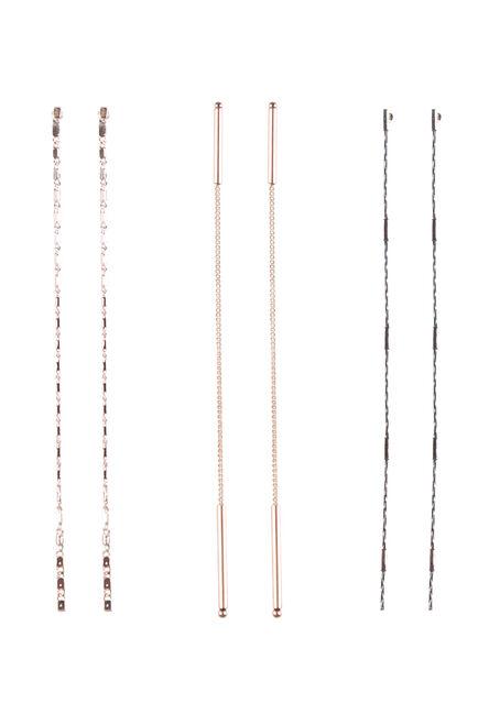 Ladies' Trio Chain Earrings