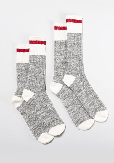 Women's 2 Pair Cabin Socks, MULTI, hi-res