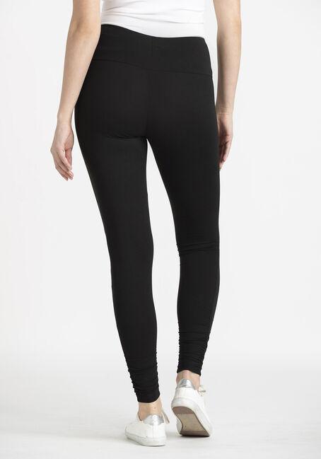 Women's Ruched Bottom Legging, BLACK, hi-res