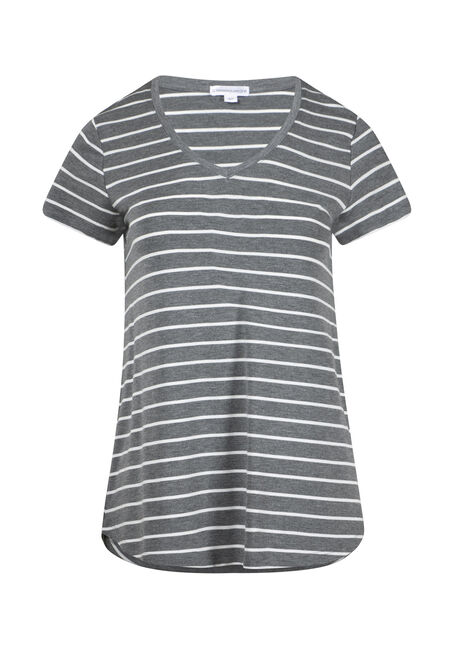 Women's Stripe V-Neck Tee
