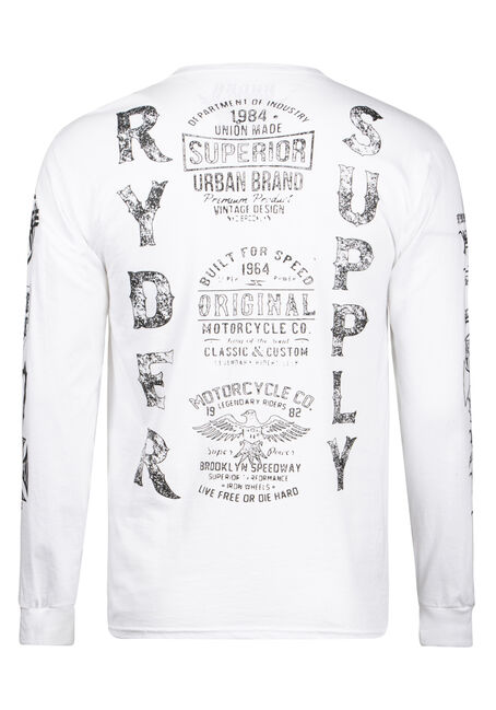 Men's Speedmasters Motorcycle Tee, WHITE, hi-res