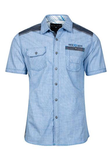 Men's Two Pocket Shirt, BLUE, hi-res