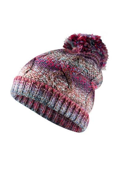 Women's Multi Colour Hat, PURPLE, hi-res
