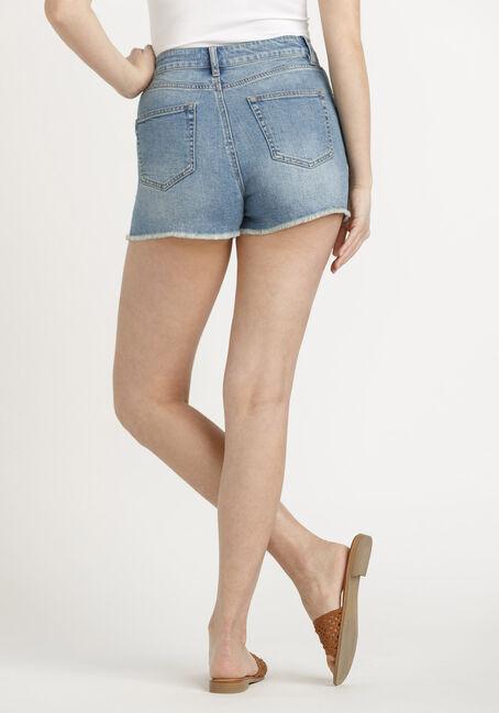 Women's High Rise Vintage Frayed Hem Short, MEDIUM WASH, hi-res