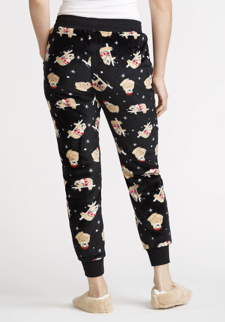 Women's Sloth Plush Jogger, BLACK, hi-res