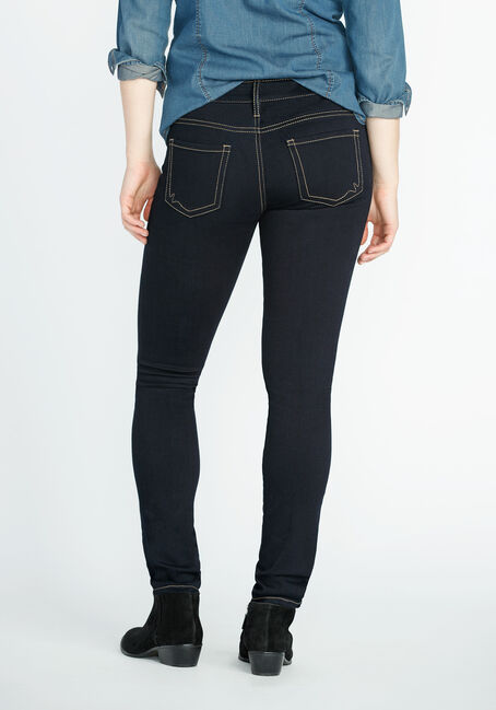 Women's Clean Wash Skinny Jeans, DARK WASH, hi-res
