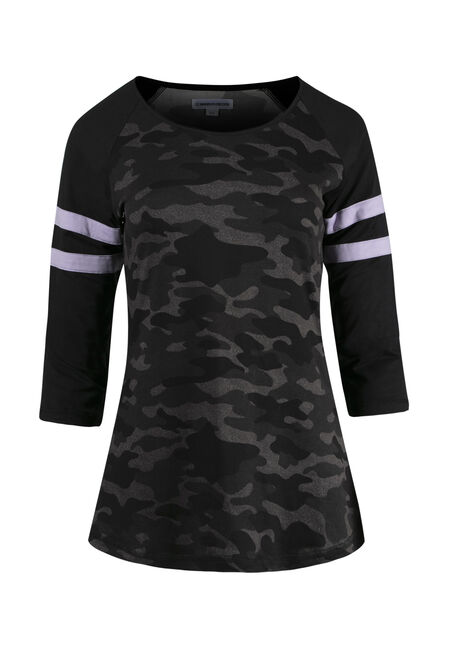 Ladies' Camo Football Tee