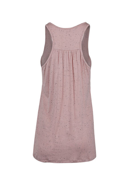 Ladies' Racerback Speckle Tank, ROSE, hi-res