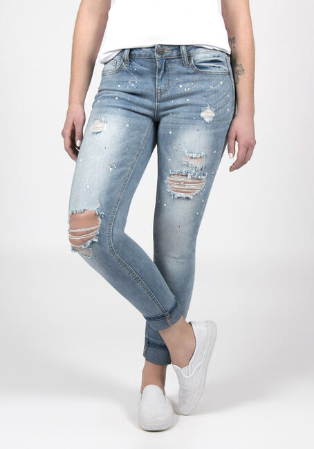 Ladies Skinny Ankle Jeans
