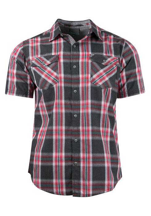 Men's Plaid Shirt, RED, hi-res