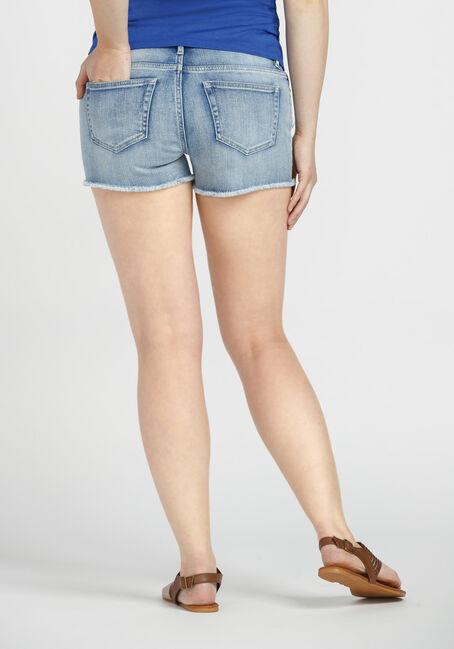 Ladies' Embroidered Not-So-Short Short, LIGHT VINTAGE WASH, hi-res