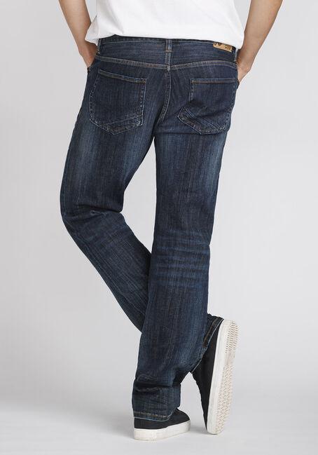 Men's Dark Wash Slim Straight Jeans, DARK WASH, hi-res