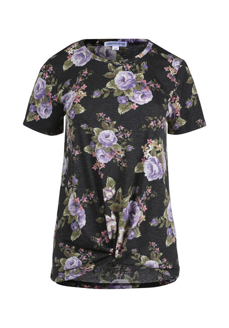 Women's Knotted Floral Top