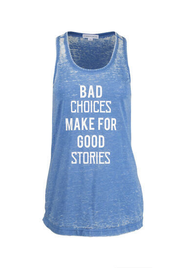 Women's Bad Choices Tank, ISLAND BLUE, hi-res