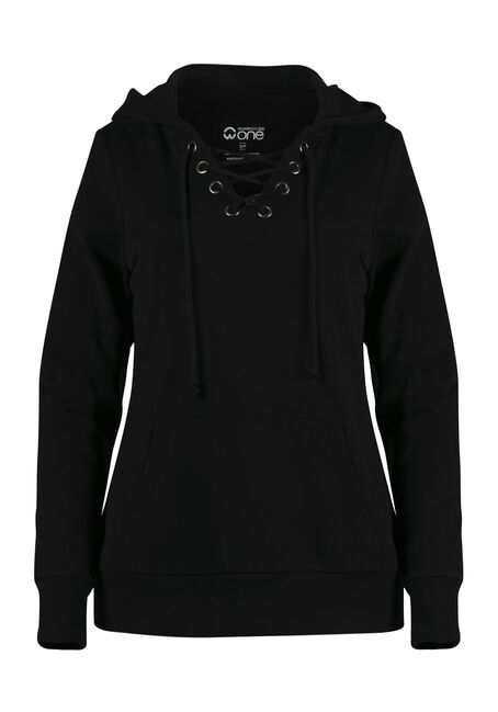 Women's Lace Up Hoodie