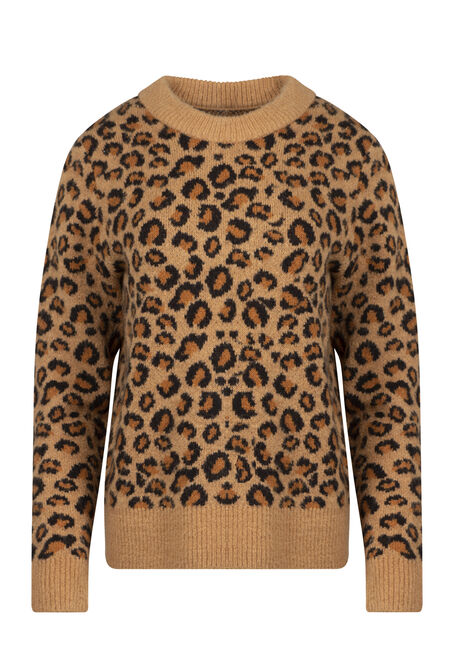 Women's Leopard Print Sweater