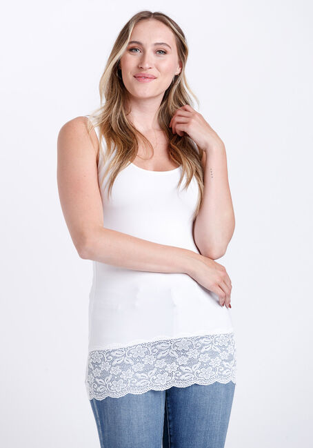 Women's Lace Trim Tunic Tank