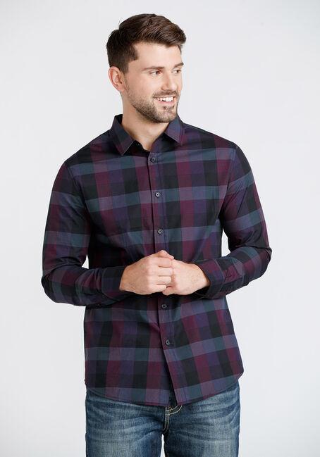 Men's Tonal Plaid Shirt