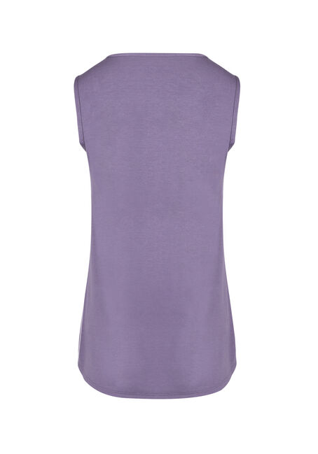 Ladies' Lace Trim Tank, DAHLIA, hi-res